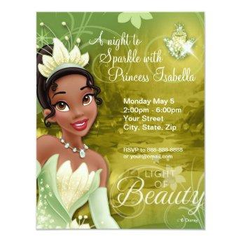 Tiana Birthday Invitation