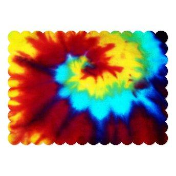 Tie Dye Look Signiture Invitation All Occation