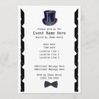 Top Hat Party Invites