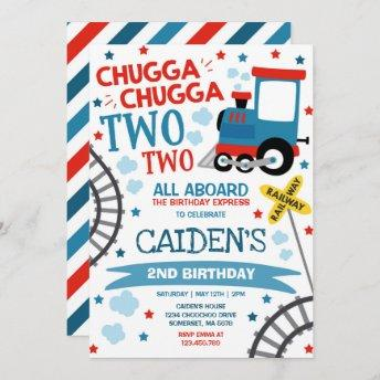 Train Birthday Invite Chugga Chugga Two Two Train