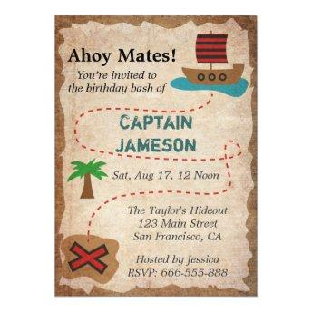 Treasure Map, Pirate Theme Birthday Party