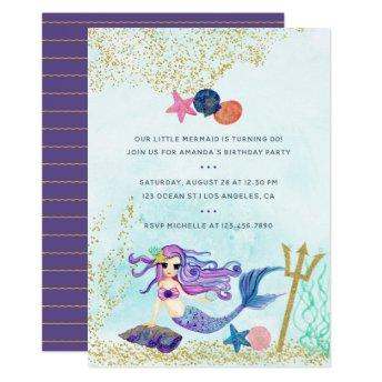 Trendy Colorways Mermaid themed Birthday Party