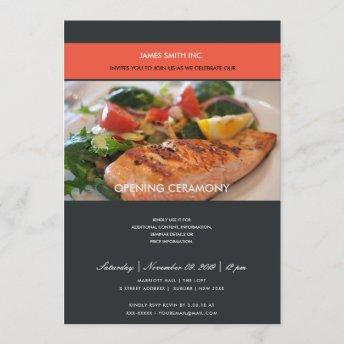 TRENDY PHOTO BLACK RED GRAND OPENING CEREMONY INVITATION