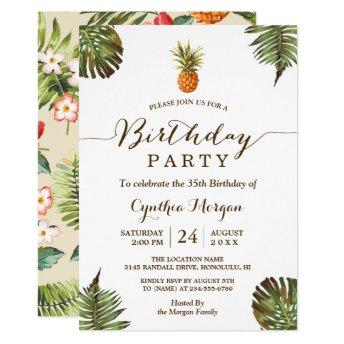 Tropical Birthday Party - Summer Pineapple Leaves