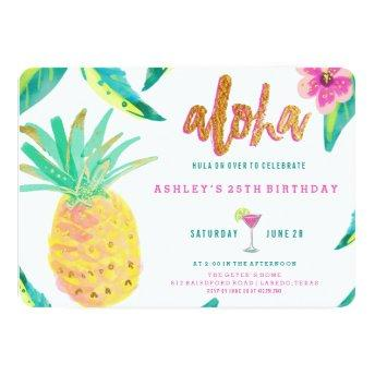 tropical luau birthday
