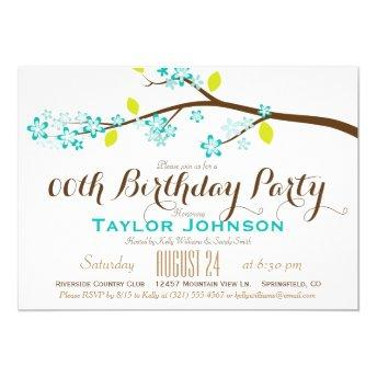 Turquoise, Lime, Brown Branch Birthday Party