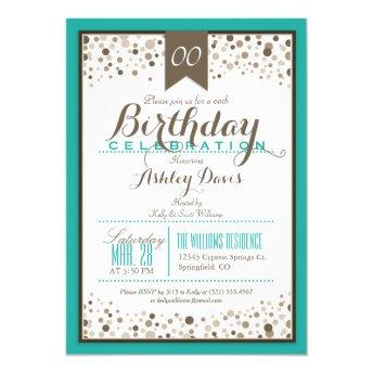 Turquoise, White, & Taupe Modern Birthday Party