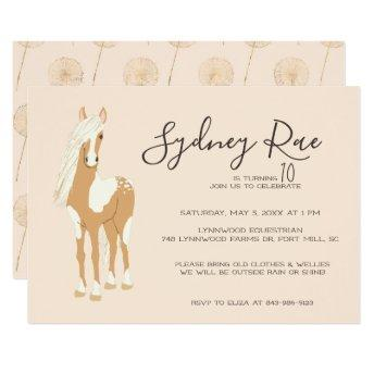 Tween Horseback Riding Party Invitation