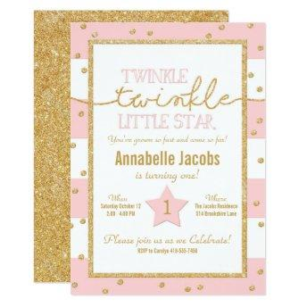 Twinkle Twinkle Pink and Gold Birthday