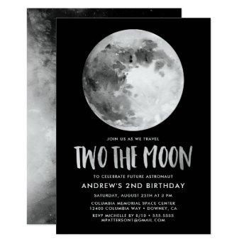 Two The Moon | Second Birthday Party Invitation