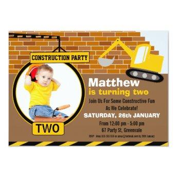 Under Construction Birthday Party