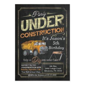 Under Construction Dump Truck Birthday