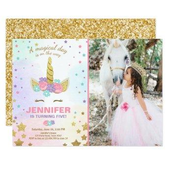 Unicorn Birthday  Pink Gold Magical