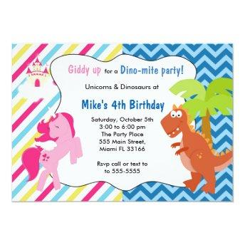Unicorn Pony Dinosaur  Birthday Party
