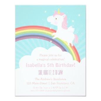 Unicorn Rainbow Girls Birthday Party