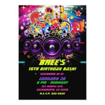 Urban Club Hip Hop DJ Dancing Dance Party Invitation
