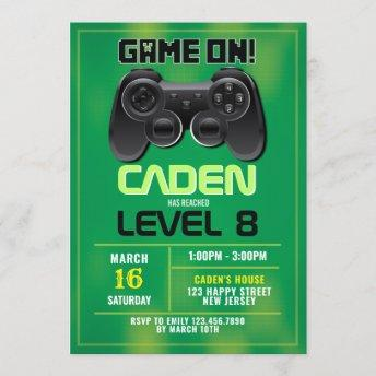 Video Game Birthday Invitation
