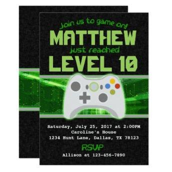 Video Game Birthday Party  Invite