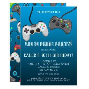 Video Game Controllers Gamer Birthday Party