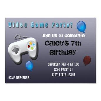 Video Game Gamer Birthday Party