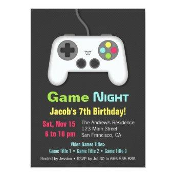 Video Game Night Boys Birthday Party