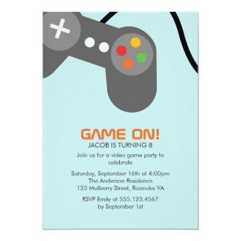 Video Games Birthday Party Invitation