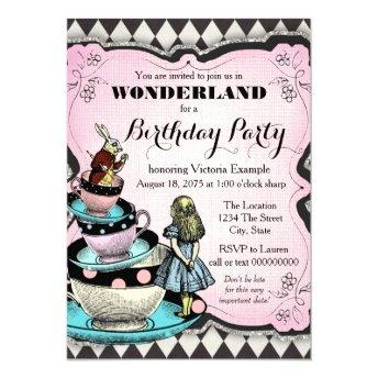 Vintage Alice in Wonderland Birthday Party