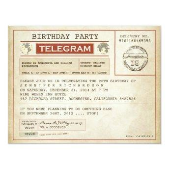 vintage birthday telegram