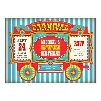 Vintage Circus Carnival Wagon Birthday Party