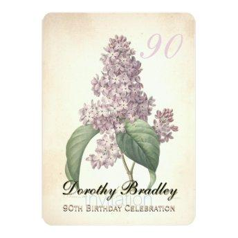 Vintage Lilac 90th Birthday Celebration