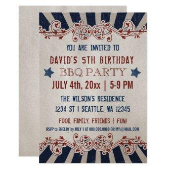 Vintage Memorial Day Birthday Party