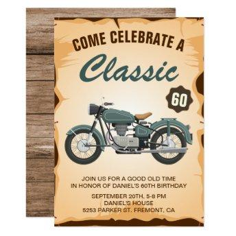 Vintage Motorcycle Adult Birthday Party