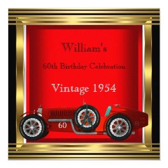 Vintage Red Racing Car Mans 60th Birthday Party 2