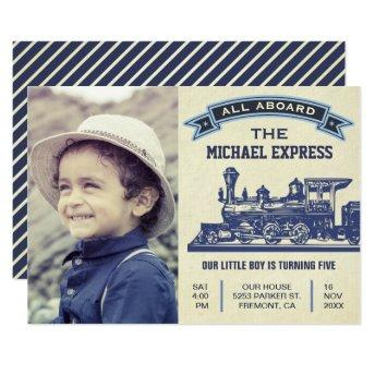 Vintage Retro Train Kids Birthday Party