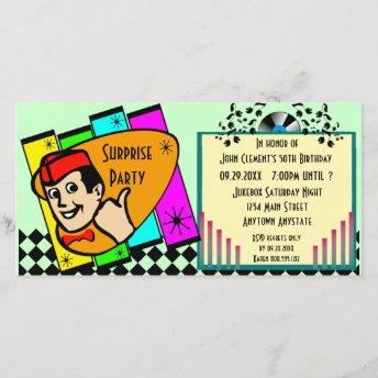 Vintage Surprise Birthday Party Invitation
