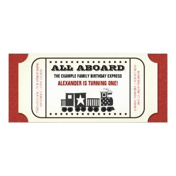 Vintage Train Ticket Birthday Party