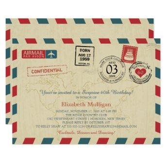 Vintage World Traveler Airmail Birthday Party