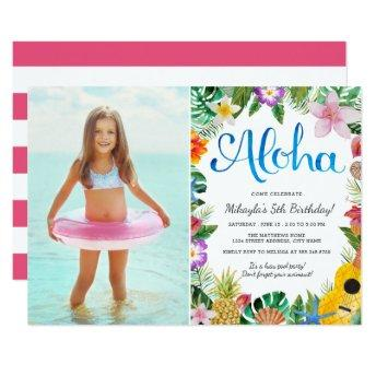 Watercolor Tropical Luau | Photo Birthday Party