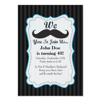 We Mustache You To Join Us Birthday Invitation! Invitation