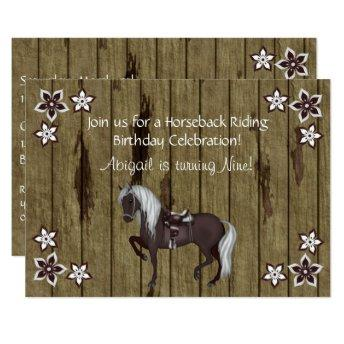 Western Horseback Riding Birthday Invitation