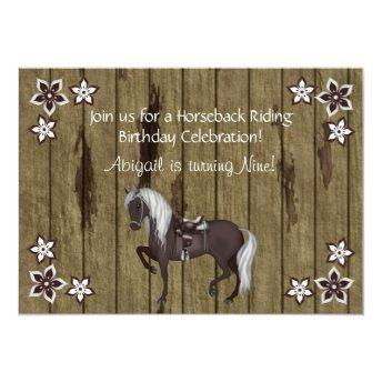 Western Horseback Riding Birthday