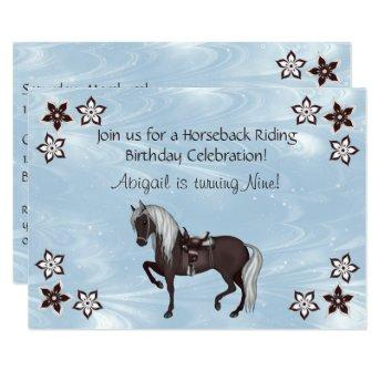 Western Horseback Riding Girls Birthday