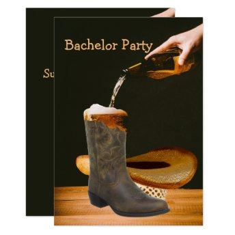 Western Party Bachelor Cowboy Hat Beer