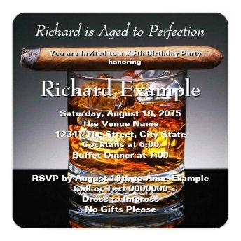 Whiskey and Cigar Birthday Party