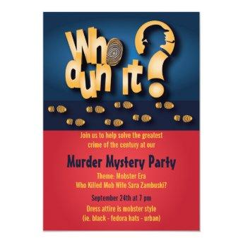 Whodunit? Murder Mystery Party