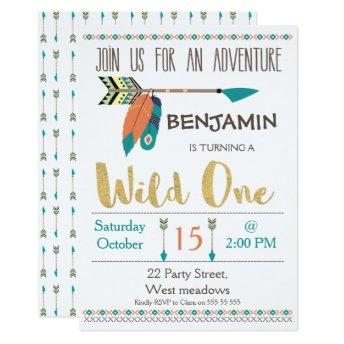 Wild One Arrow 1st Birthday  For Boy
