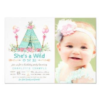 Wild One Birthday Party Teepee First Birthday