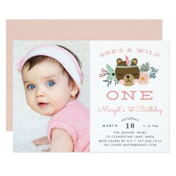 Wild One | Photo First Birthday Party Invite