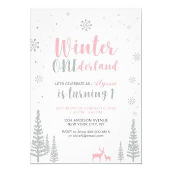 Winter Onederland 1st Birthday  - Girl