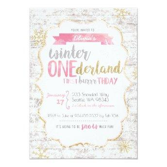 Winter Onederland First Birthday